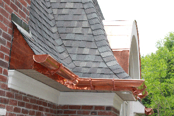 Copper Gutters and Spouts